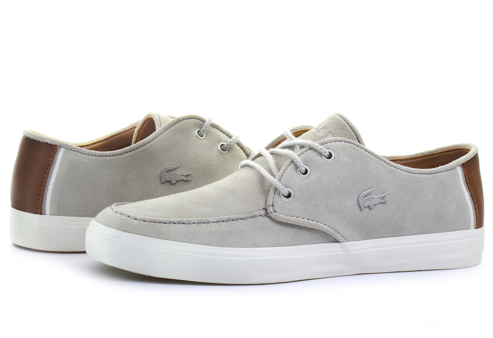 Lacoste Grey Leather Shoes