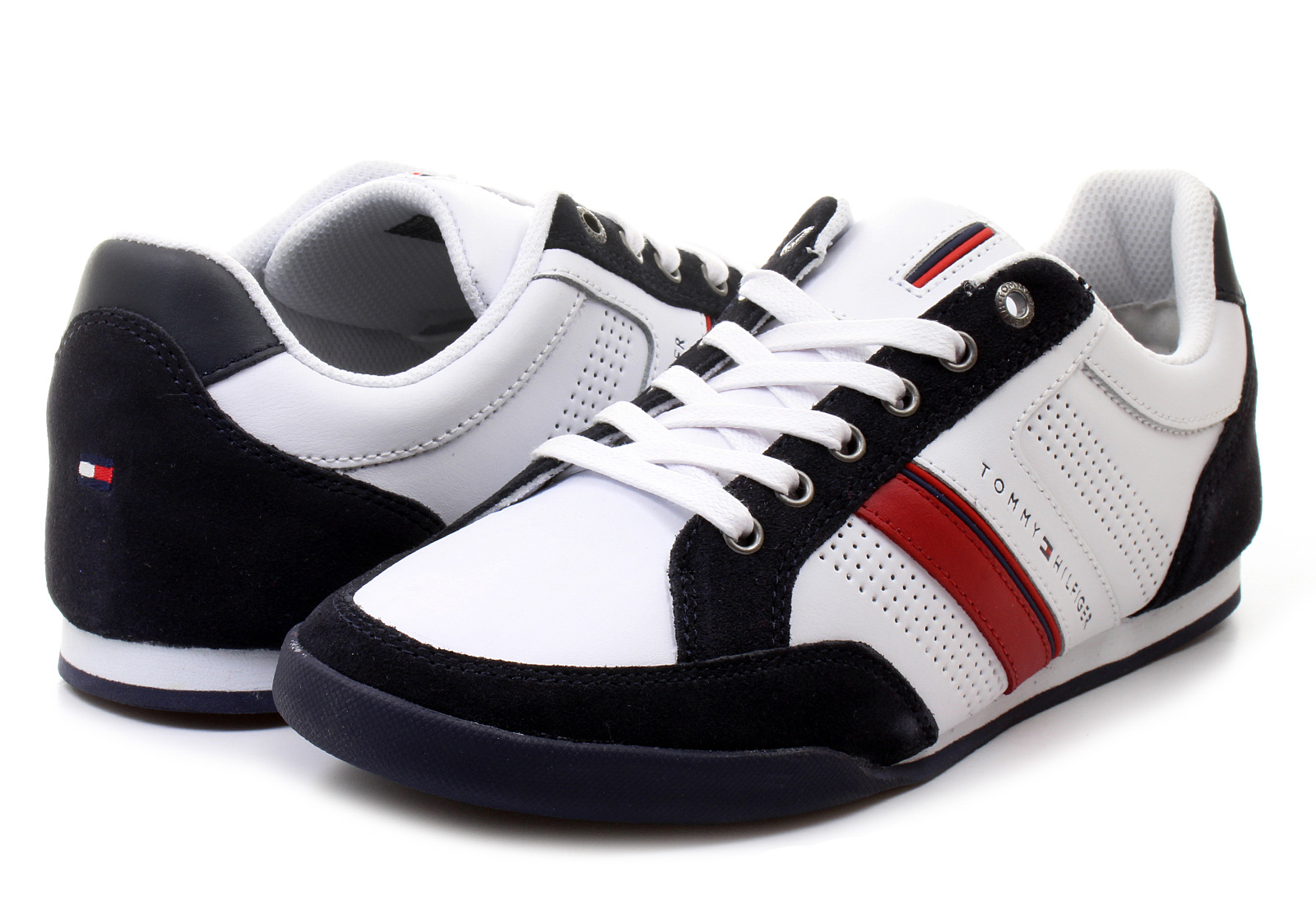 Tommy Hilfiger Black And White Shoes