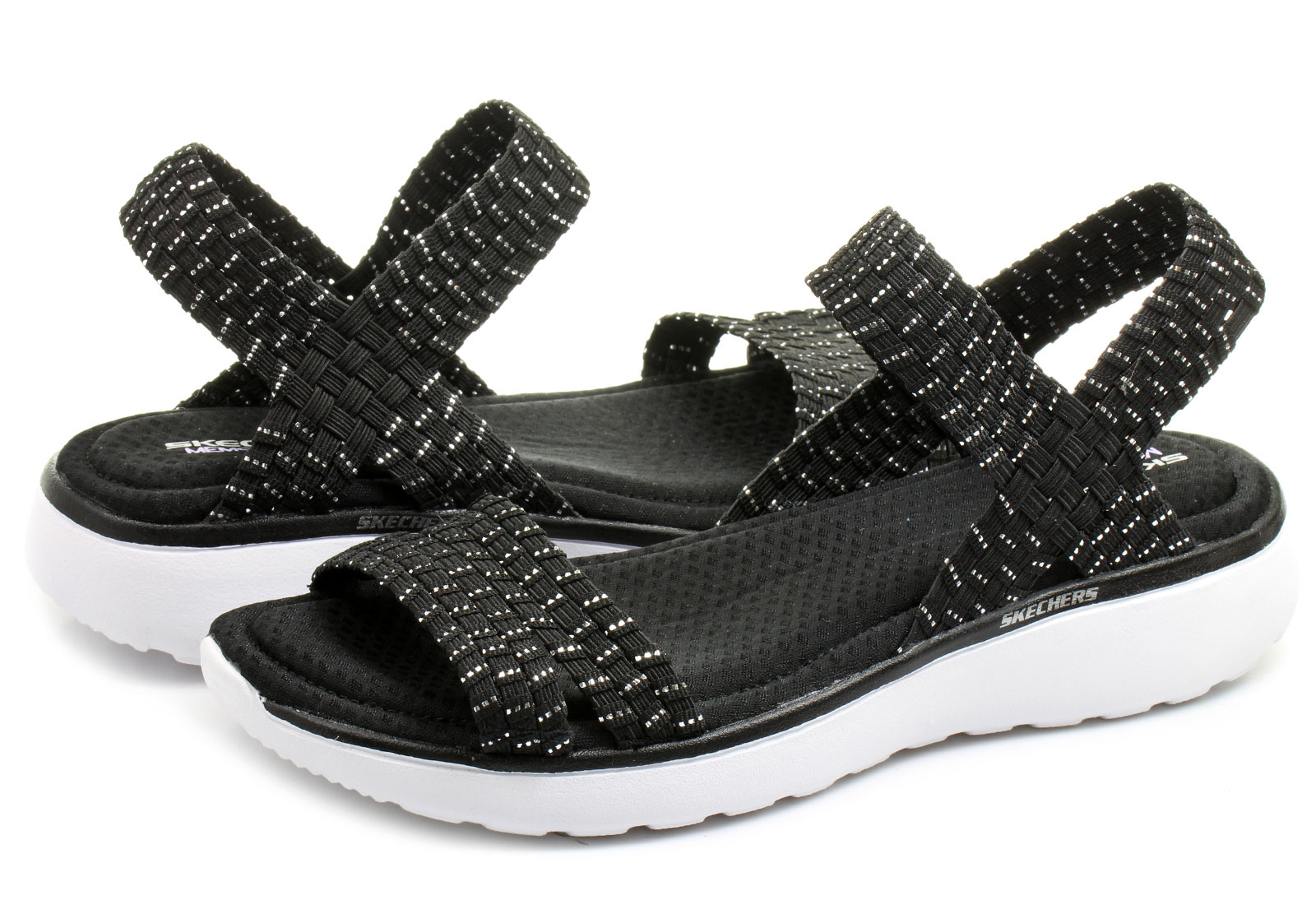Skechers Sandals - Warped - 38596-bksl - Online Shop For Sneakers Shoes And Boots