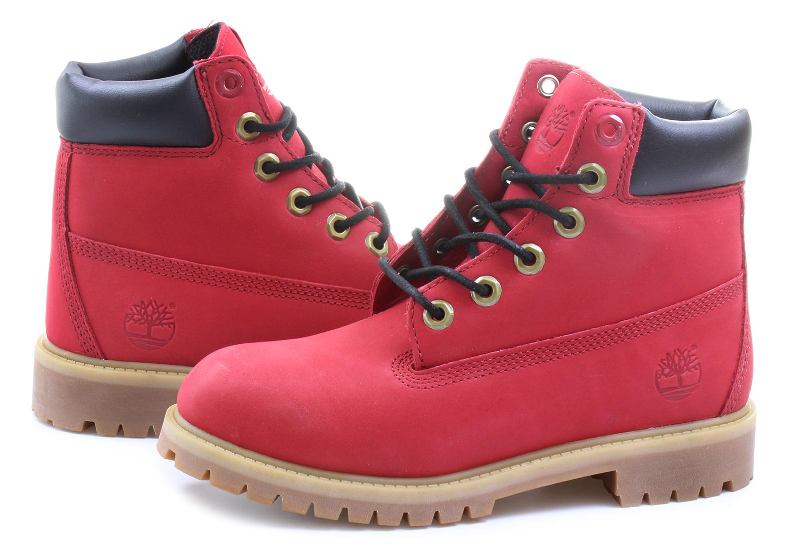 Beautiful Womens Timberland 6 Premium Velvet Collar Boot - Red - 538417