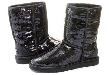 7b667882123 Ugg Boots - W Classic Short Sparkles - 3161-blk - Online shop for sneakers,  shoes and boots