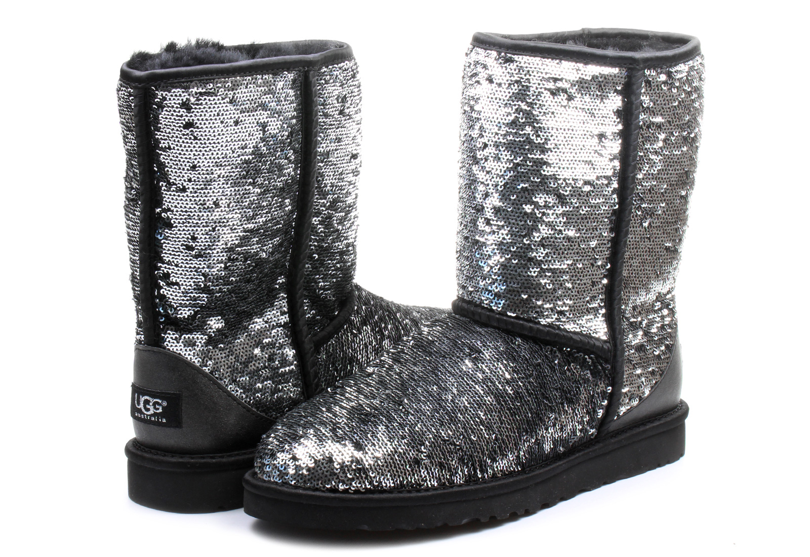 ugg boots w classic short sparkles 1002765 blm online shop for sneakers shoes and boots. Black Bedroom Furniture Sets. Home Design Ideas