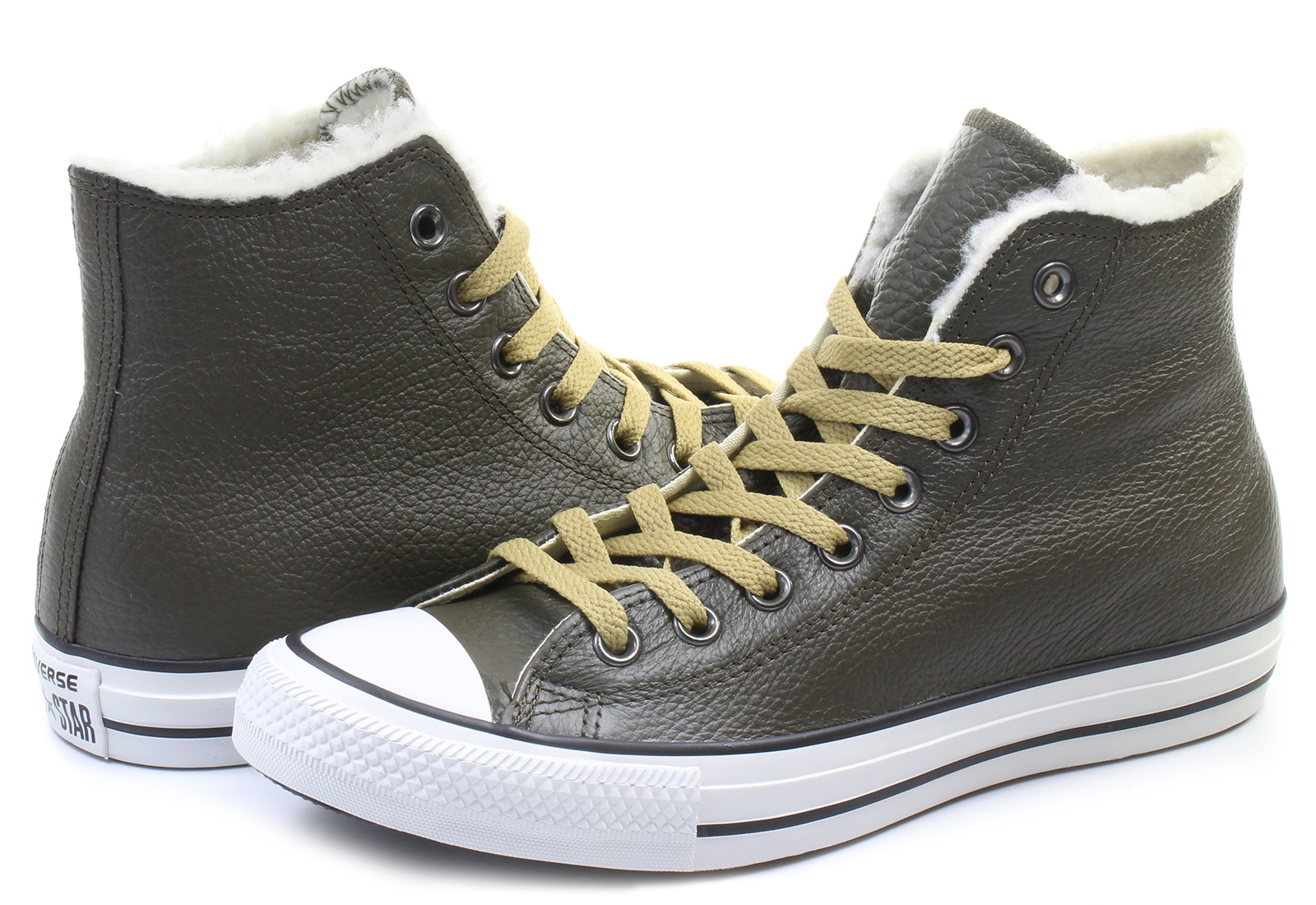 Converse Tenisky - Chuck Taylor All Star Leather Fur Hi ... 3dd2b8721d5