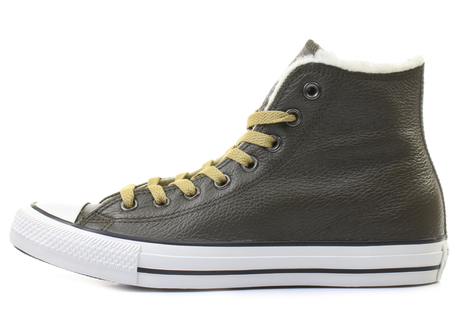 9a7ec341752 Converse Sneakers - Chuck Taylor All Star Leather Fur Hi - 144728C ...