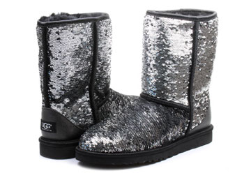 dd03ed836aa Ugg Boots - W Classic Short Sparkles - 1002765-BLM - Online shop for  sneakers, shoes and boots