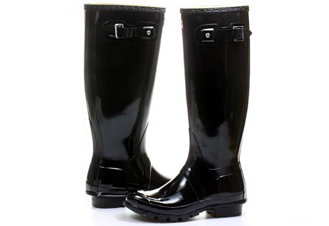 Hunter Gumáky Womens Original Tall Gloss