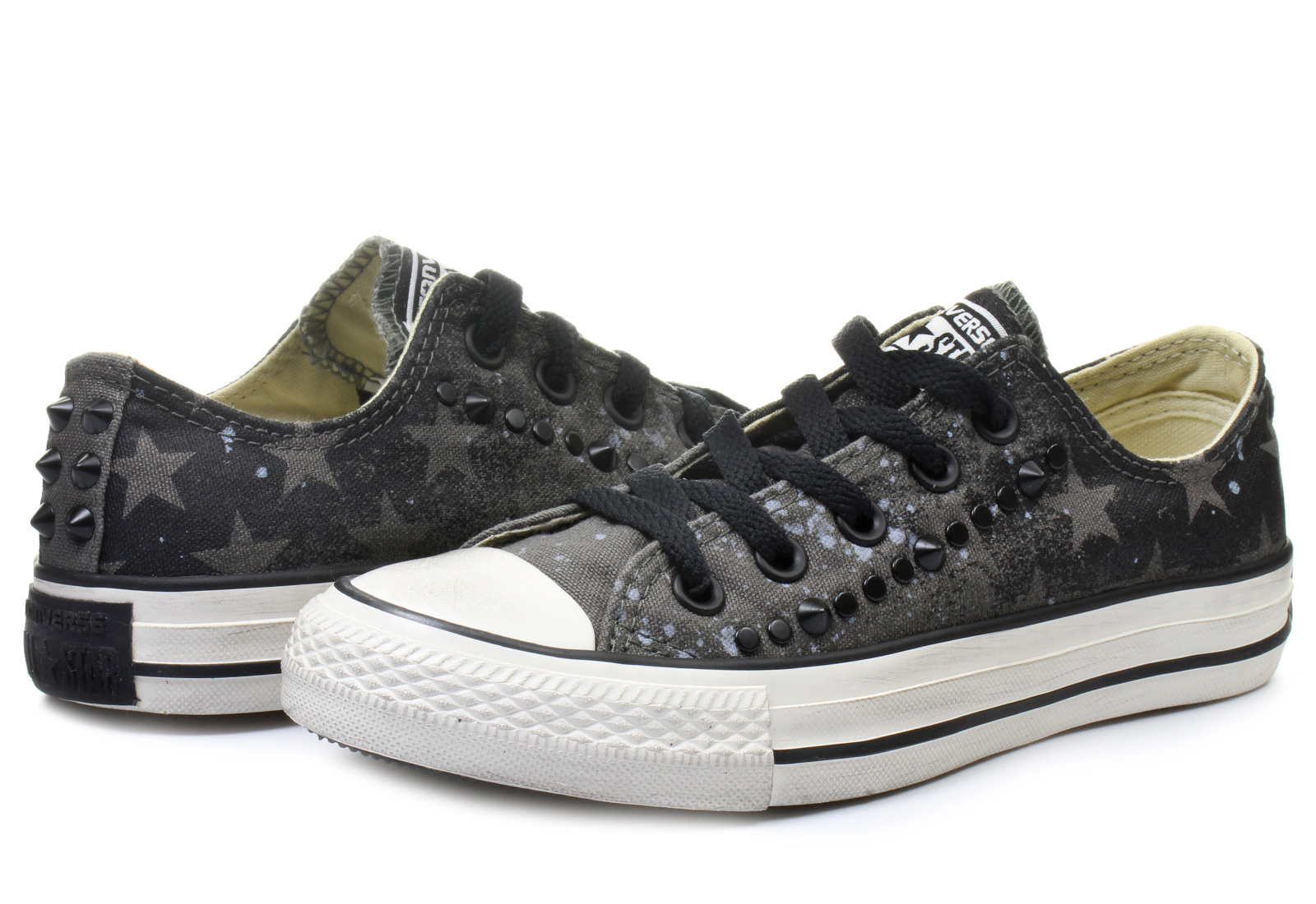 Gold Studded Converse Shoes