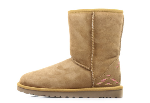 Ugg Vysoké boty W Classic Short Rustic Weave