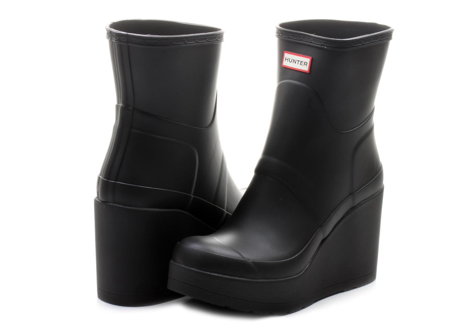 Hunter Boots Original Mid Wedge Short P1065rma Blk