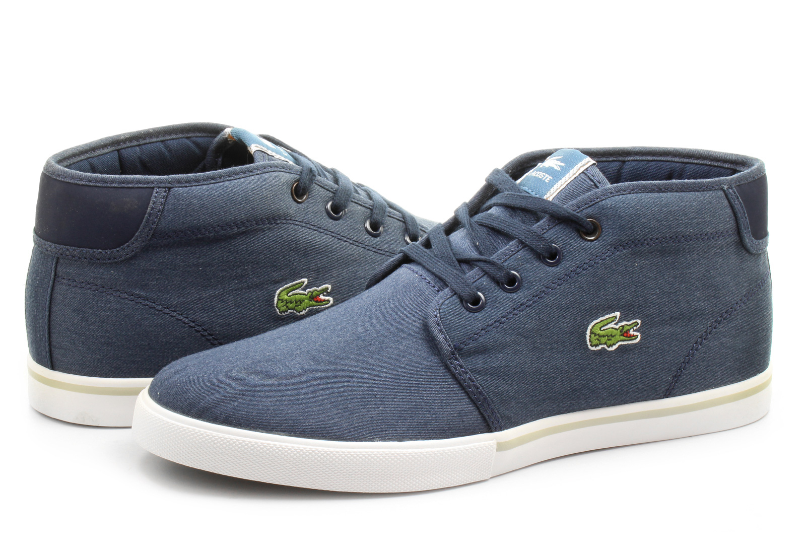 Lacoste Brown Canvas Shoes