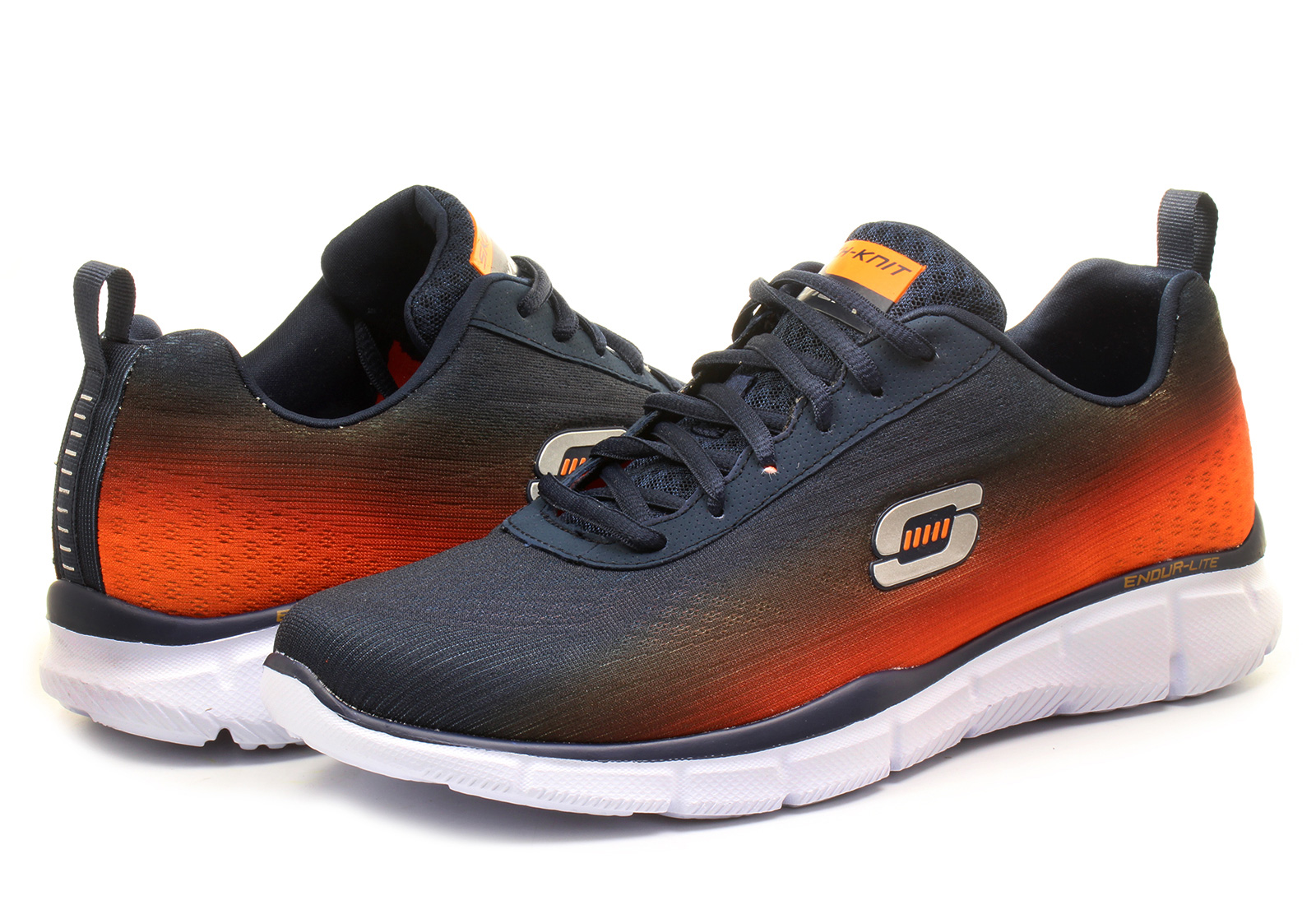 Skechers Shoes Velcro Blue Orange