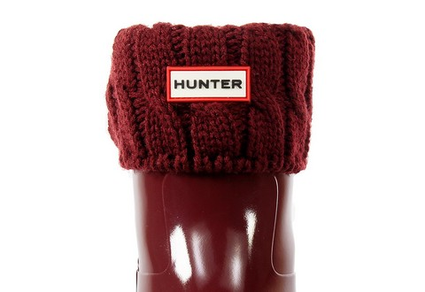 Hunter Ponožky 6 Stitch Cable Boot Sock - Short