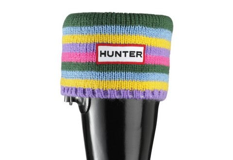 Hunter Zokni Kids Striped Cuff Welly Socks