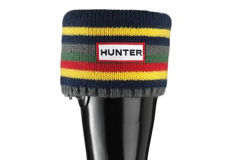 Hunter Zokni Kids Striped Cuff Welly Socks