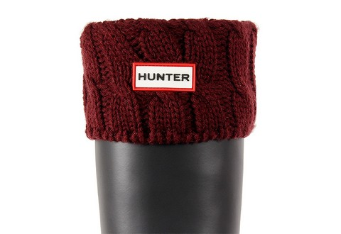 Hunter Ponožky 6 Stitch Cable Boot Sock
