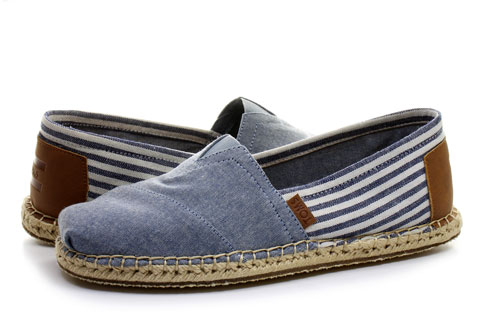 Toms Slip-on Alpargata Chambray Stripe