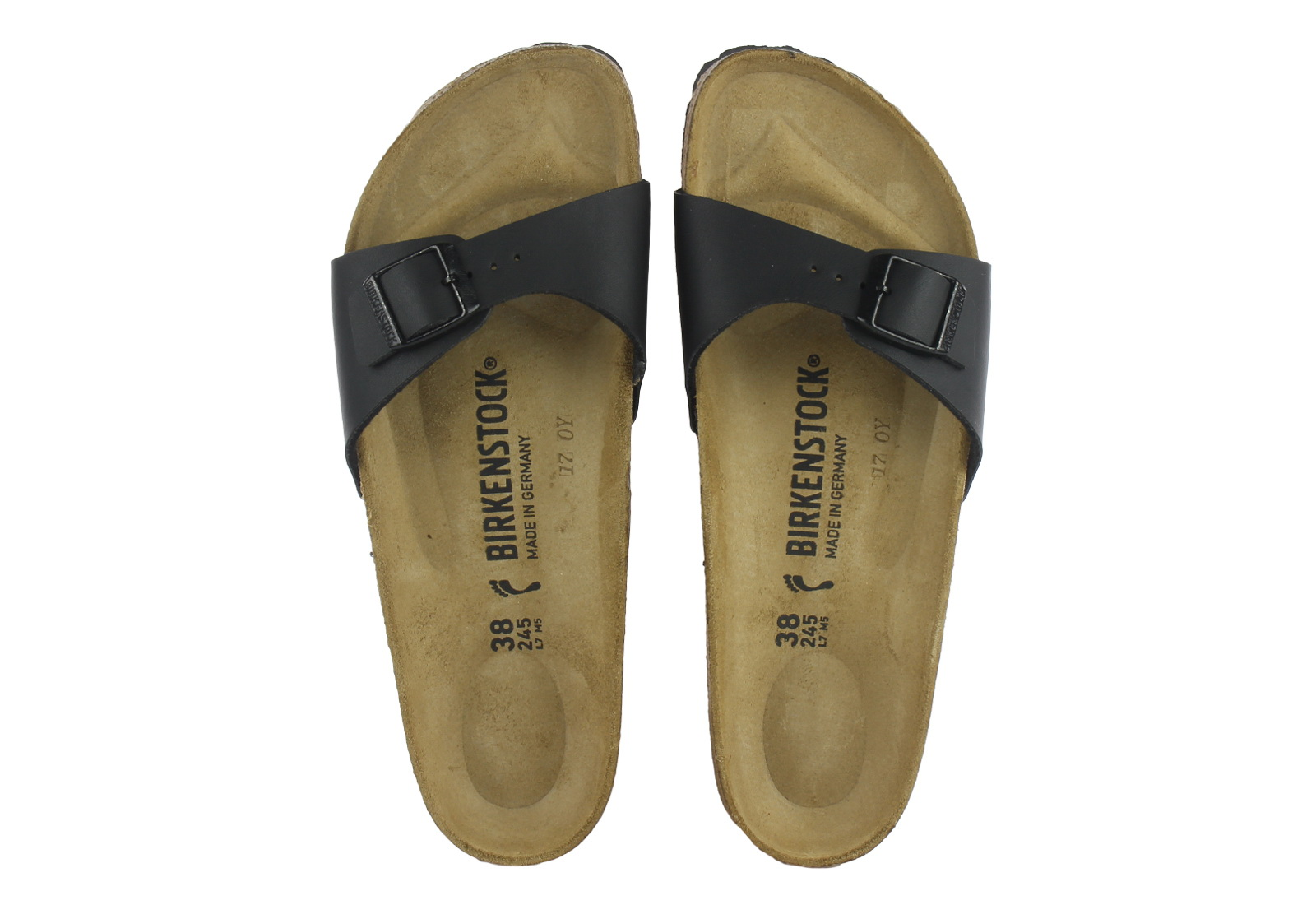 birkenstock slippers madrid 040793 blk online shop. Black Bedroom Furniture Sets. Home Design Ideas