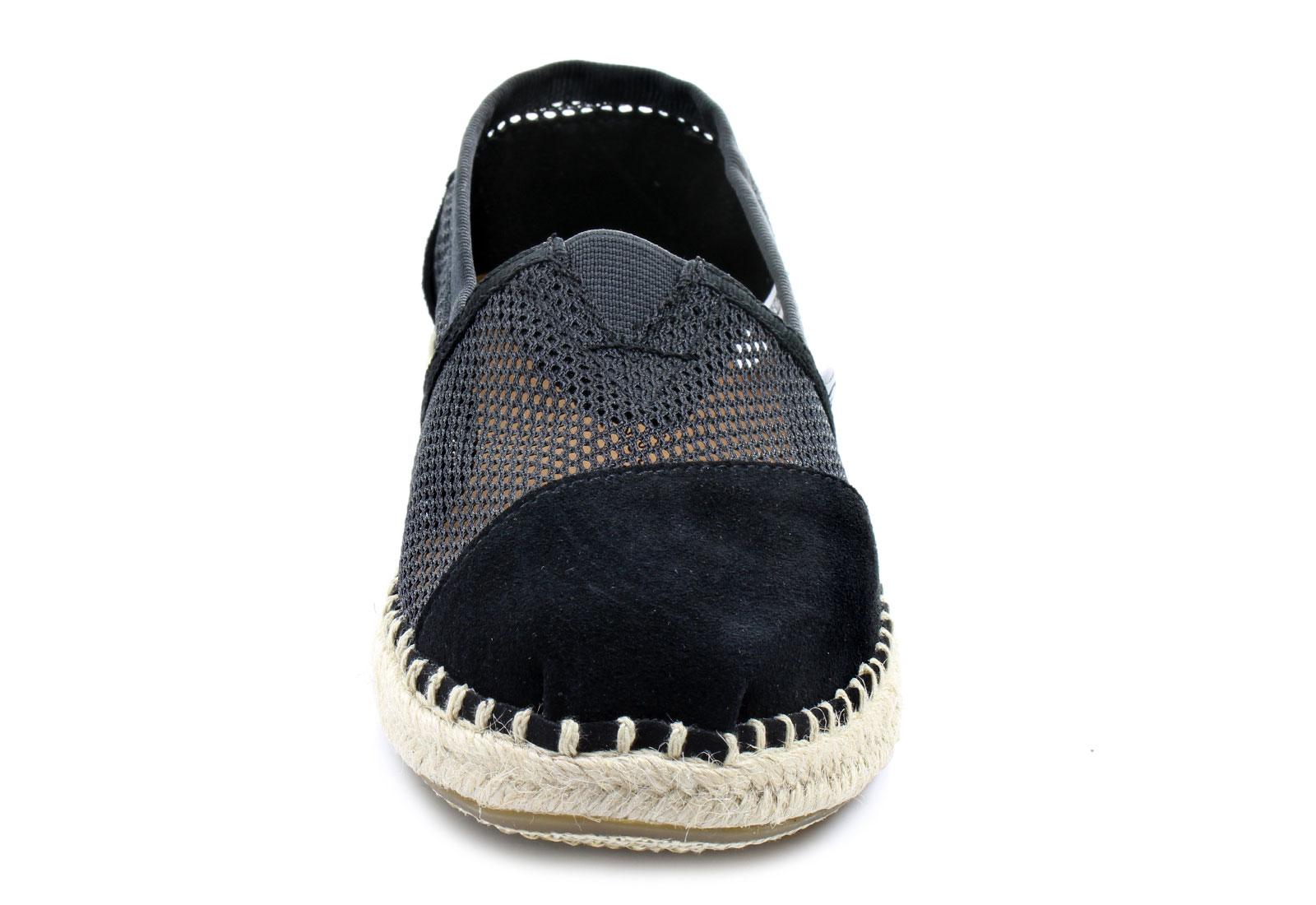 Toms Toile Espadrille W Chaussures Pantoufle De Noir Noir 4MTLB5nDR
