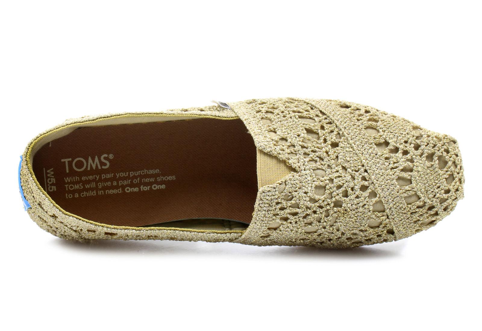 Toms Nízké boty - Alpargata Crochet - 10008006-gldTenisky 494ca4e1755