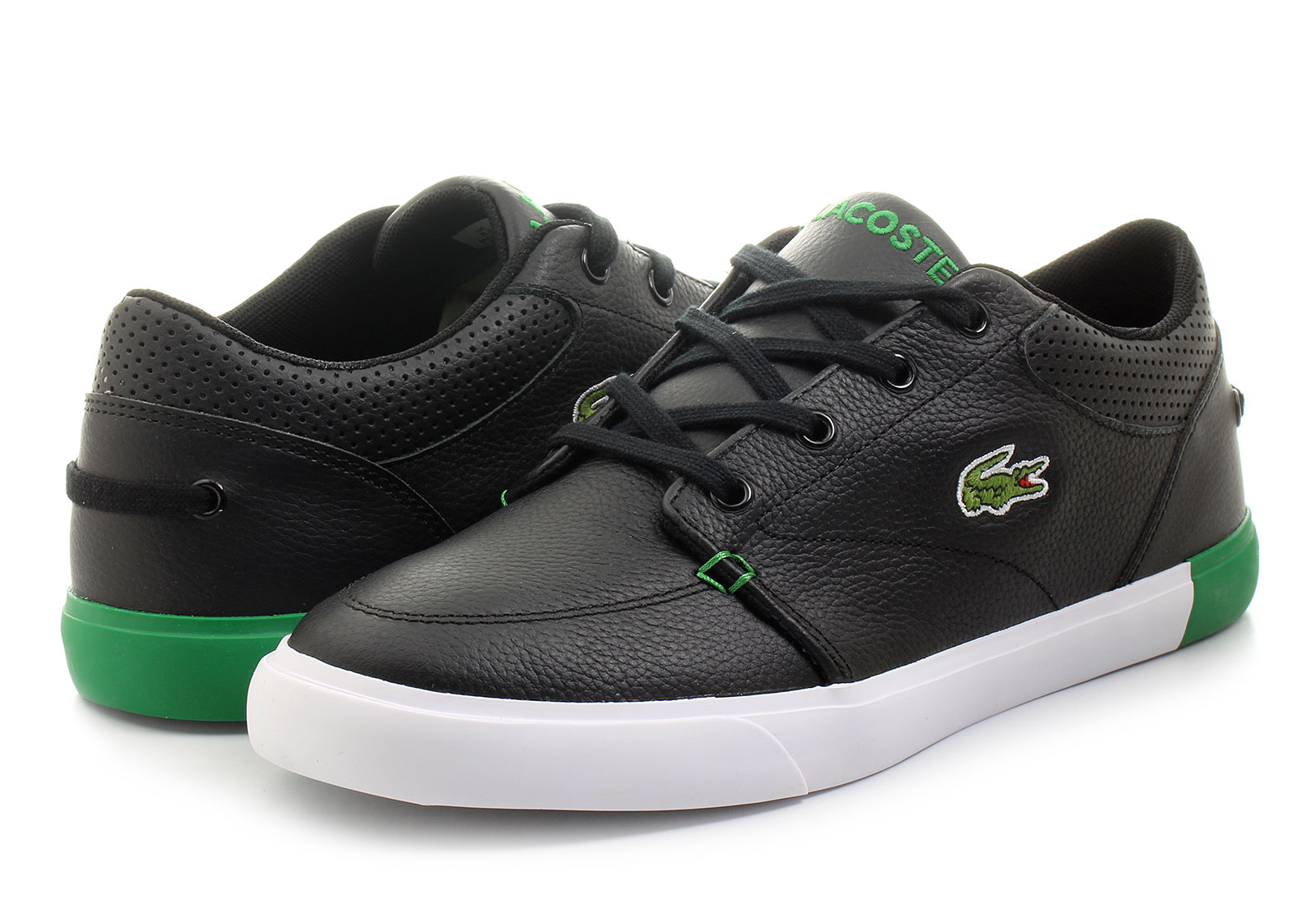 Lacoste Men s Shoes Lacoste men's shoes offer a wide range of versatile footwear—and with designs that inject a sense of modern style into boots, loafers, boat shoes and sneakers, you'll never have to settle for something less than dynamic and eye-catching.
