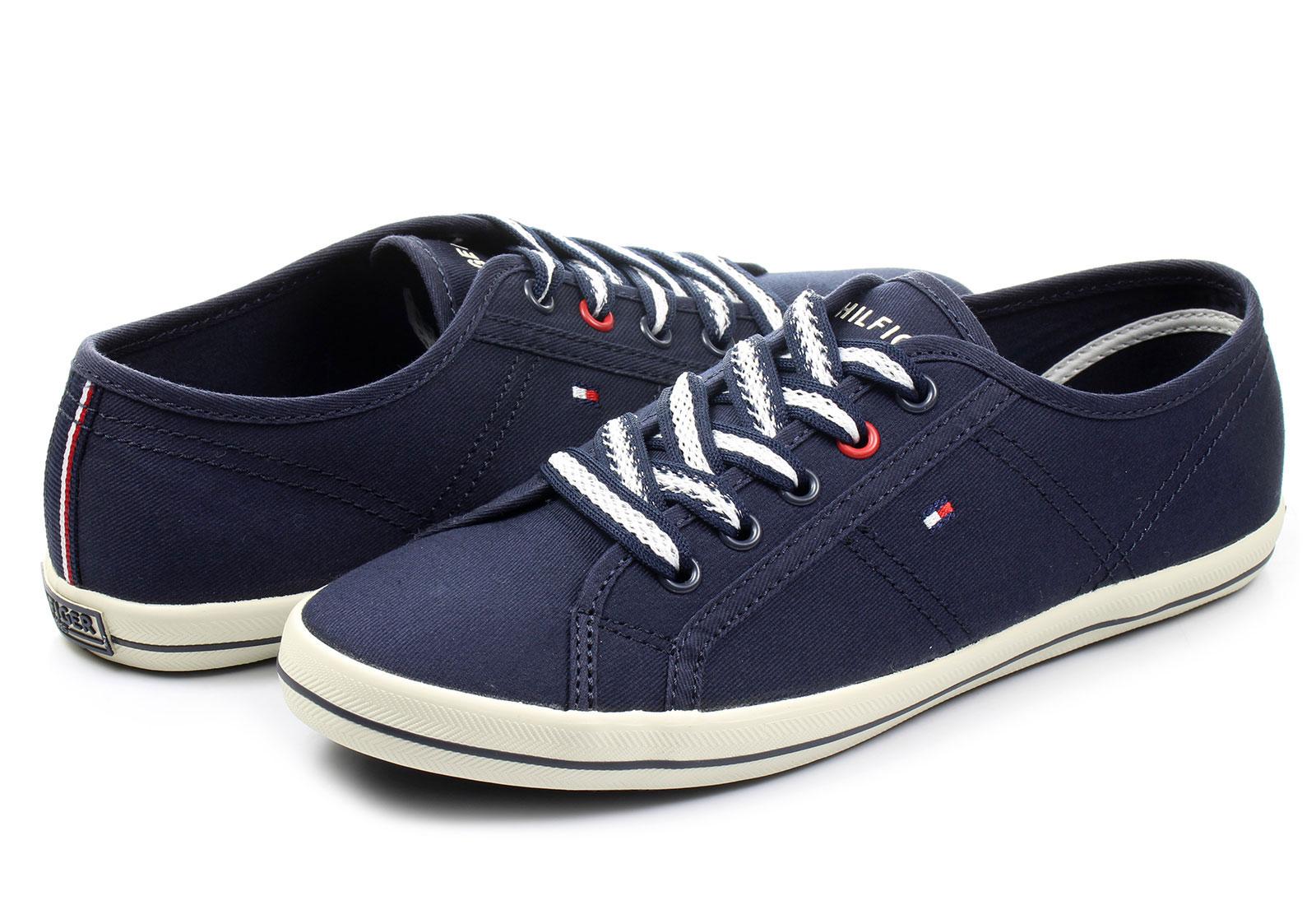 tommy hilfiger shoes victoria 2d tommy hilfiger blue cotton shoes. Black Bedroom Furniture Sets. Home Design Ideas