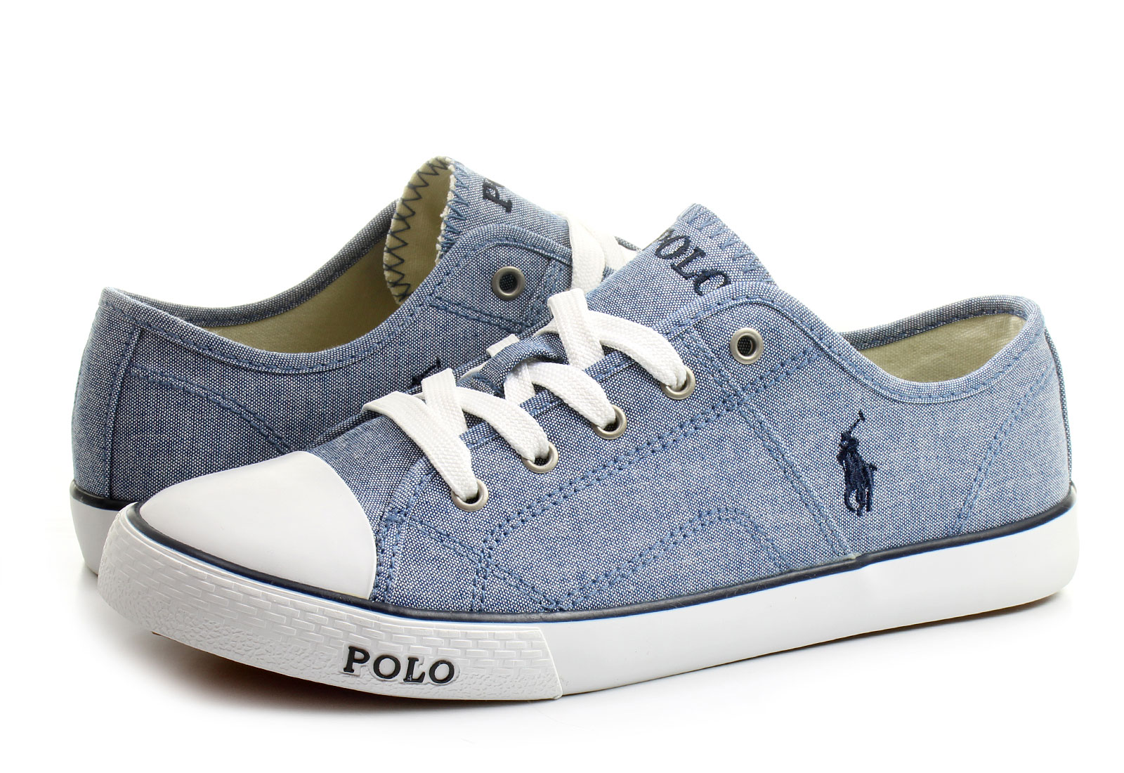 Grey And White Polo Shoes
