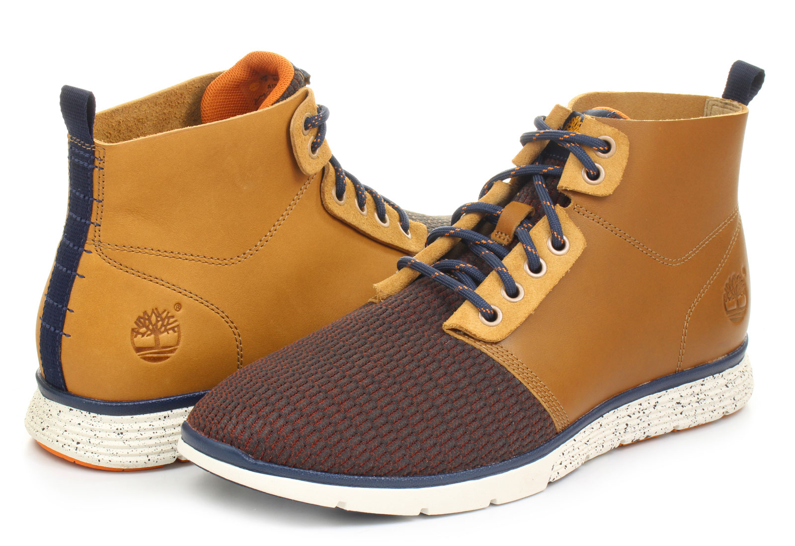 White And Gold Timberland Shoes