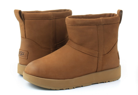 Ugg Kotníčkové Classic Mini Leather Waterproof