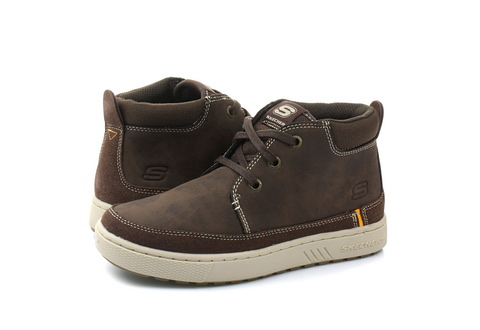 Skechers Pantofi Lace Up Mid Top Casual