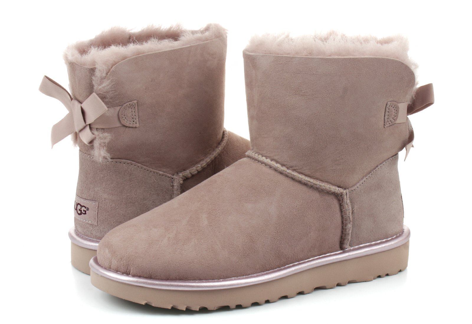 Ugg Boots Mini Bailey Bow Ii Metallic 1019032 Dus