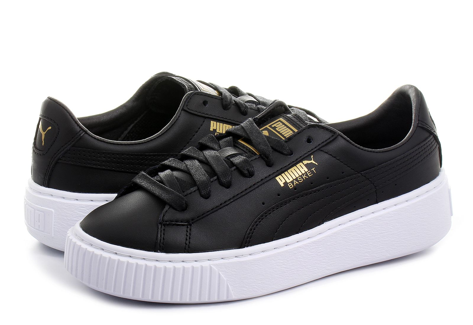 Puma Niske Cipele Crne Cipele - Basket Platform Core - Office Shoes ... f3f9fd8718