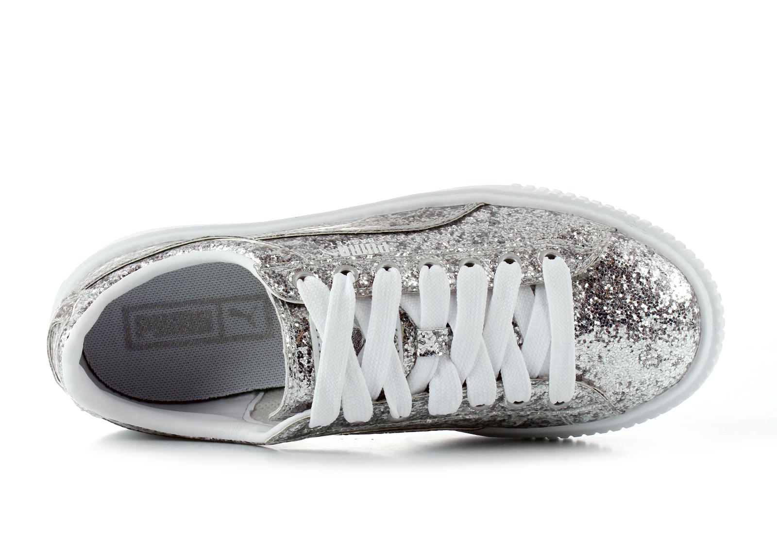 reputable site b000d c0c8c Puma Shoes - Basket Platform Glitter Wns - 36409301-slv - Online ...