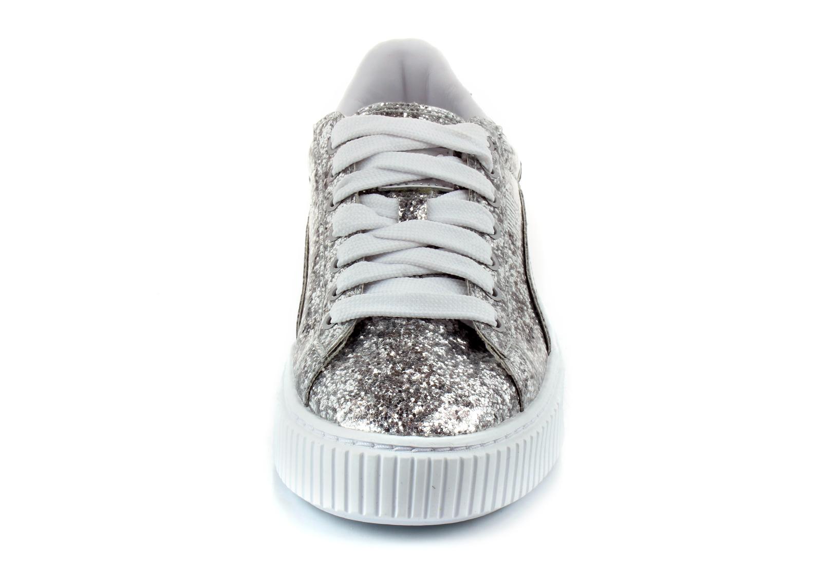 5e703331186482 Puma Shoes - Basket Platform Glitter Wns - 36409301-slv - Online ...