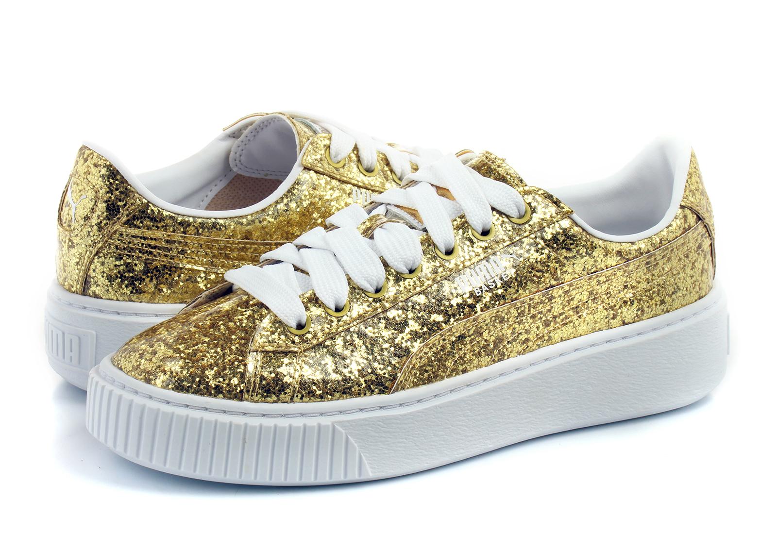 Puma Shoes - Basket Platform Glitter Wns - 36409302-gld - Online ... aebc17726f1