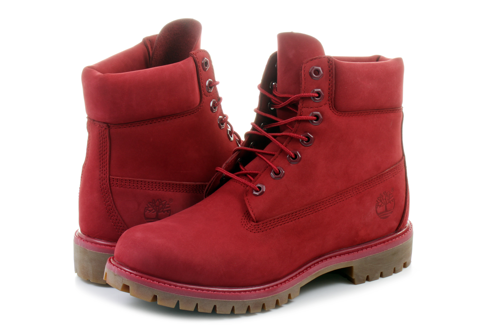 Timberland Usa-made 8 inch bordowe