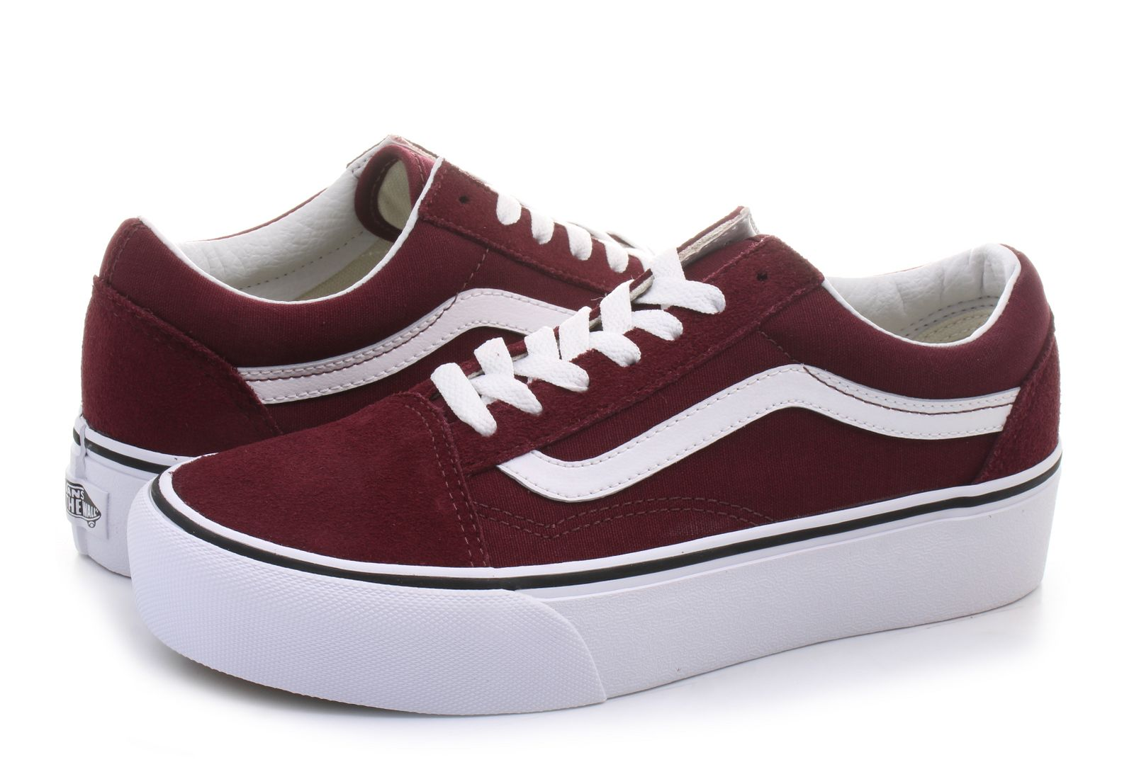 vans old skool damskie bordowe