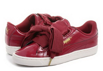 official photos 7734a 73f1f Puma Shoes - Basket Heart Patent Wns - 36307305-red - Online shop for  sneakers, shoes and boots