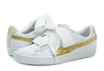 pretty nice 19c65 8046e Puma Shoes - Basket Heart Glitter Wns - 36407801-wht - Online shop for  sneakers, shoes and boots