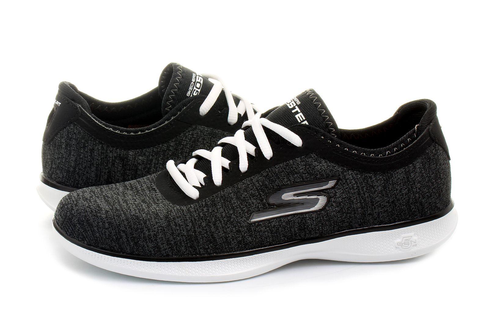 Skechers Womens 14485 Black/White Running Shoes Size 8.5 (296830)