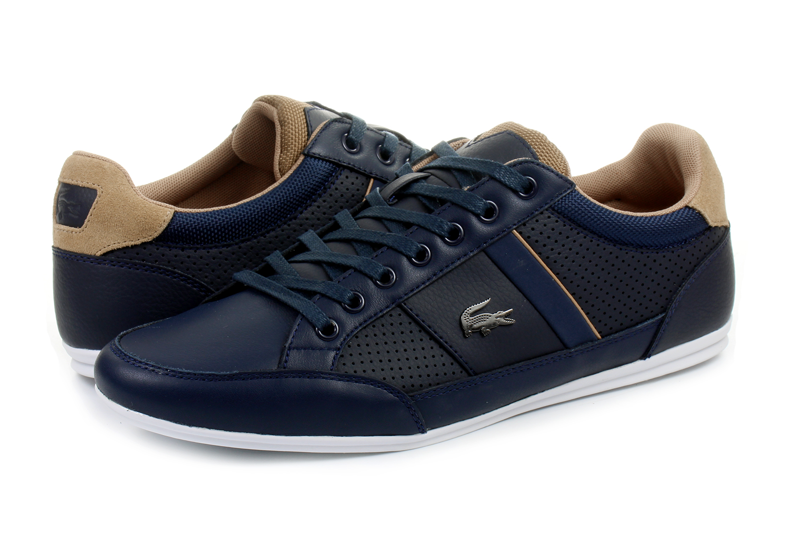Blue And Gold Lacoste Shoes Women