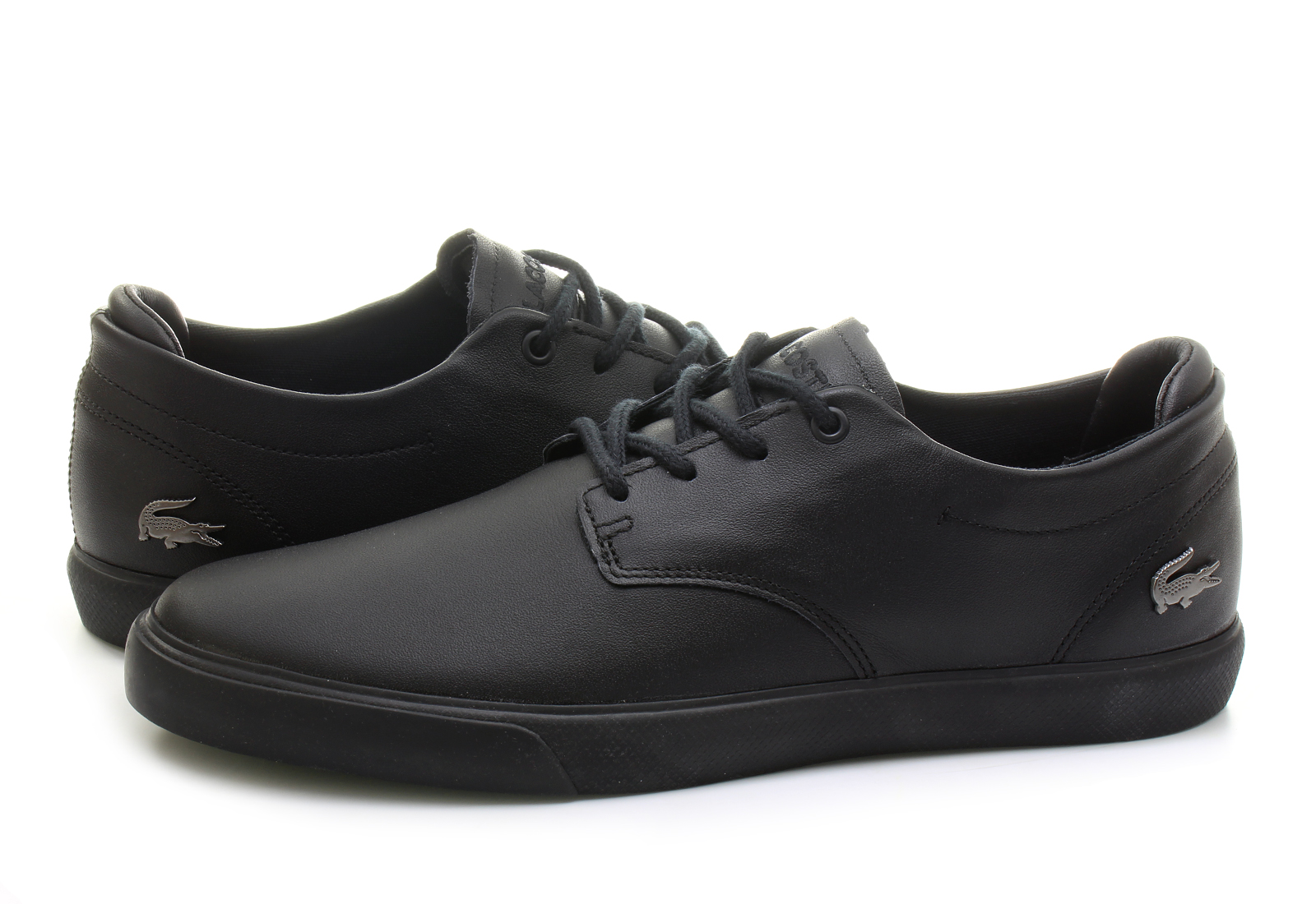 Lacoste Black Boat Shoes