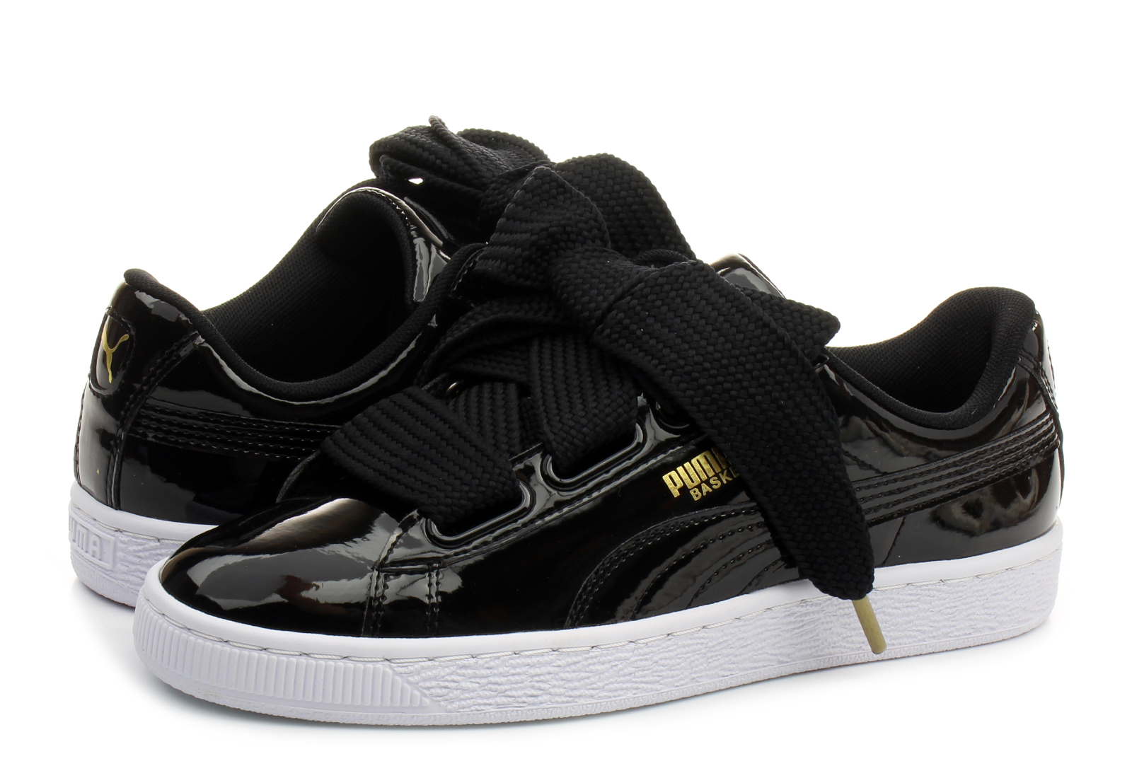 puma shoes basket heart patent wns 36307301 blk online shop for sneakers shoes and boots. Black Bedroom Furniture Sets. Home Design Ideas
