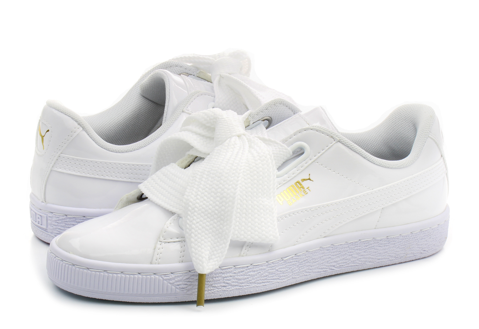 puma shoes basket heart patent wns 36307302 wht online shop for sneakers shoes and boots. Black Bedroom Furniture Sets. Home Design Ideas