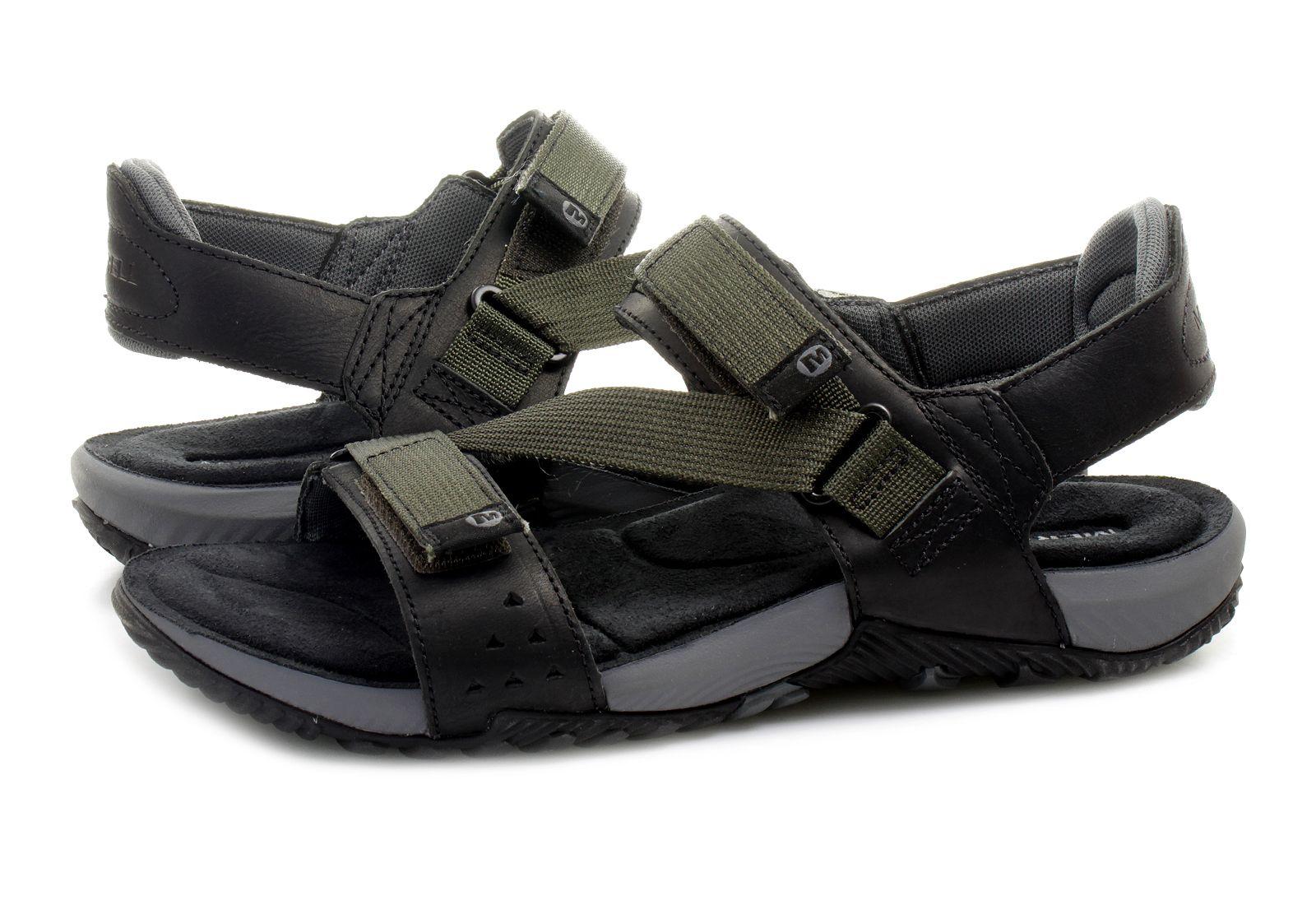 Black merrell sandals - Merrell Sandals Terrant Strap