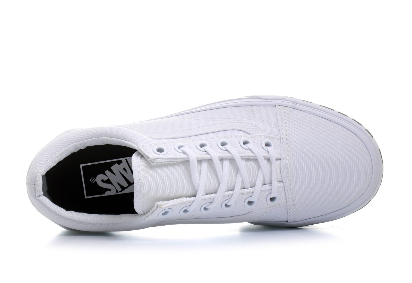 buty vans old skool platform white