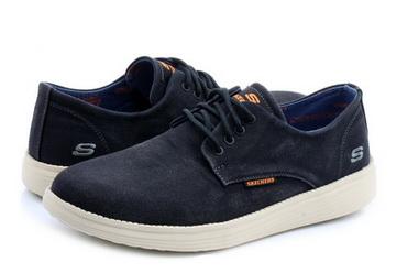 Skechers Pantofi Status Borges 64629 blk Office Shoes Romania