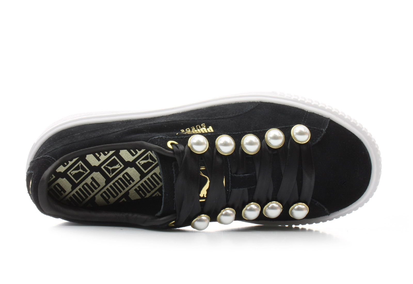 Puma Shoes Suede Platform Bling Wns 36668801 blk Online shop for sneakers, shoes and boots