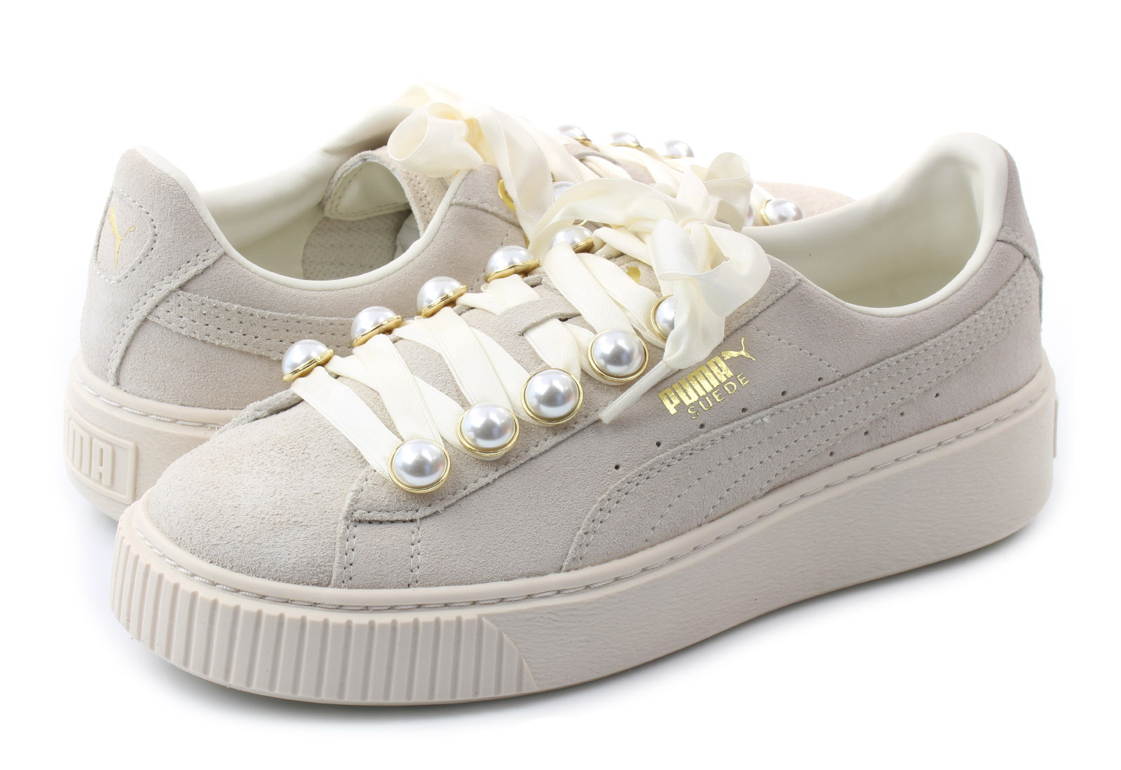 Puma Cipő - Suede Platform Bling Wns - 36668802-wht - Office Shoes ... 6d009e3bbf