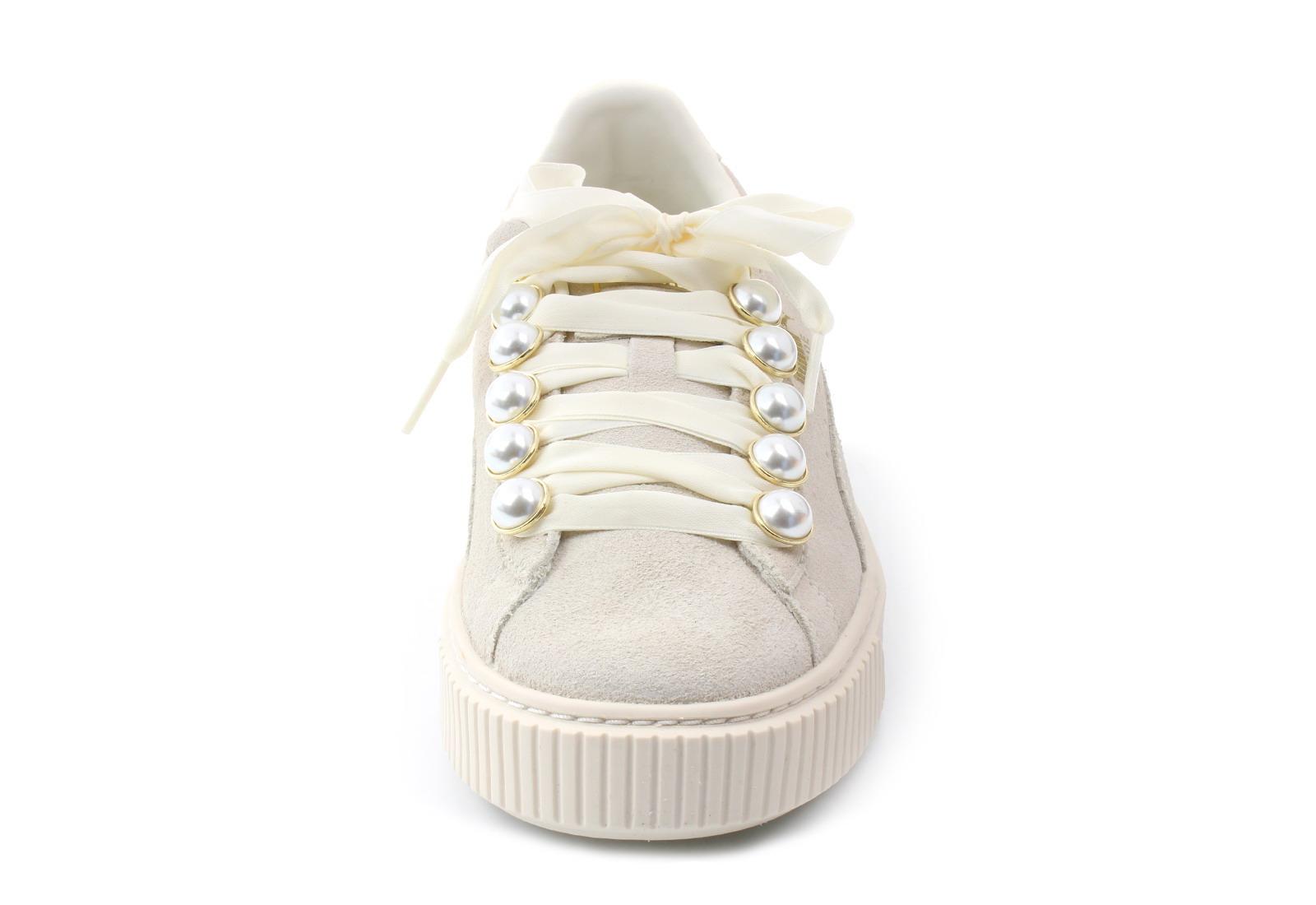 Puma Cipő - Suede Platform Bling Wns - 36668802-wht - Office Shoes ... 6d009e3bbf