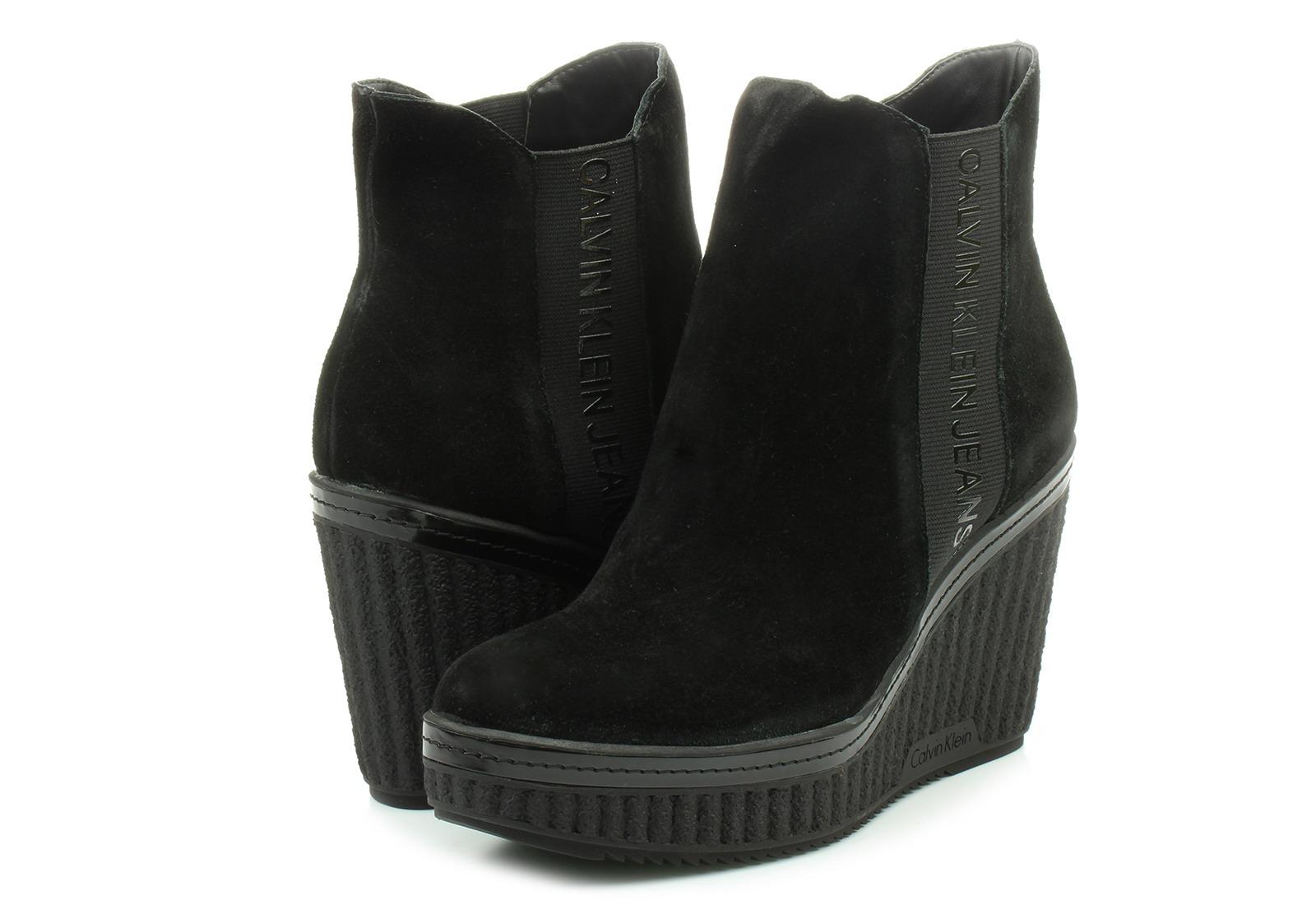 Calvin Klein Jeans Csizma - Shuana - RE9765-BLK - Office Shoes ... 1376fa9d06